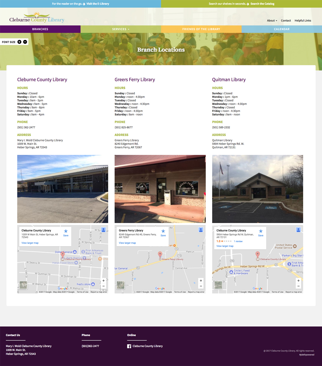 Cleburne Country Website Screenshot 2