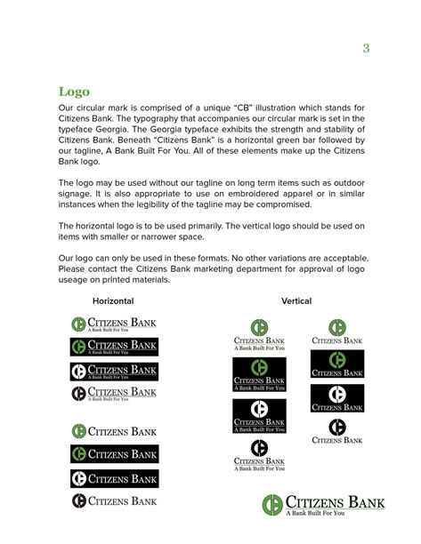 brand standards logo page