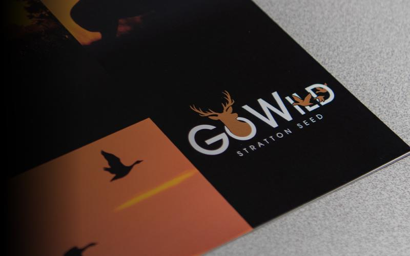 Close up of GoWild logo on brochure