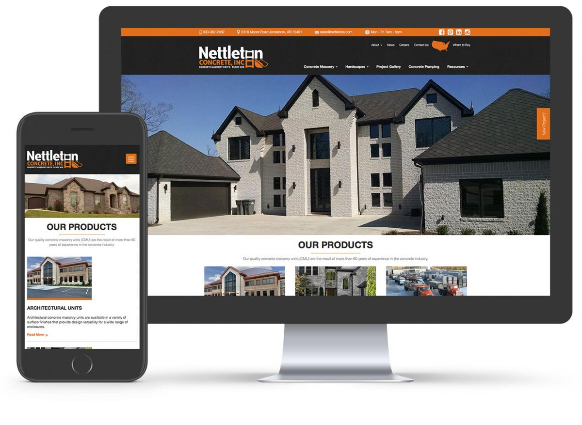 Nettleton Concrete website mockup