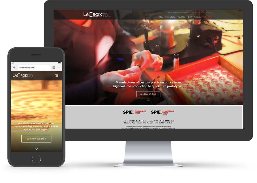 LaCroix Precision Optics Website Family