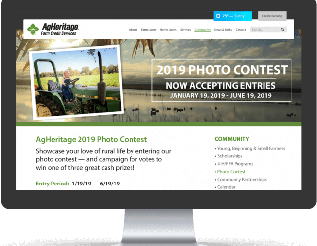 Photo Contest Website Mockup
